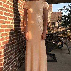 Revelry light pink sequin dress